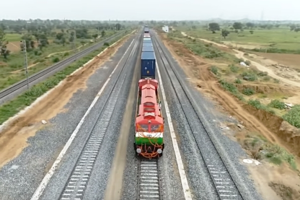 Watch: Freight Train Runs On Western Dedicated Freight Corridor For The First Time