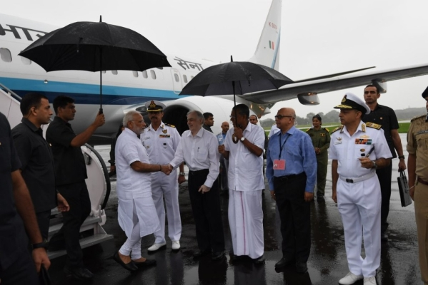 PM Modi In Kerala Since Last Night To Assess Flood Situation, Announces Immediate Aid Of Rs 500 Crore