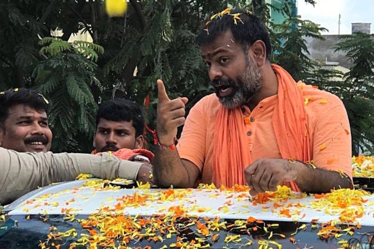 Swami Paripoornanandha said he would turn Telangana into a
