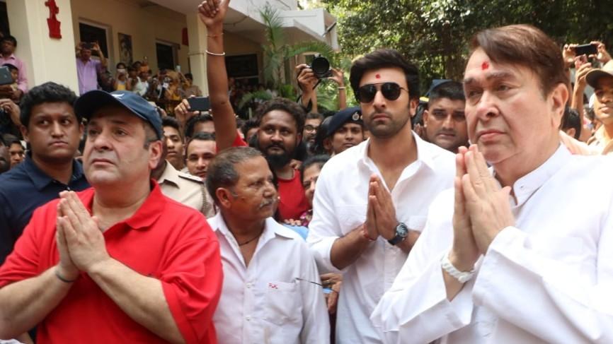Ranbir Randhir and Rajiv Kapoor at RK Studios