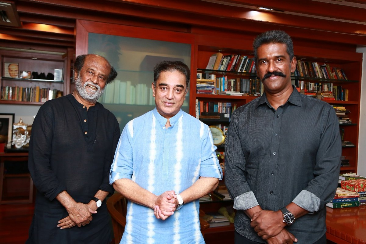 With a hug, Rajinikanth meets Kamal Haasan, invites him for daughter's wedding