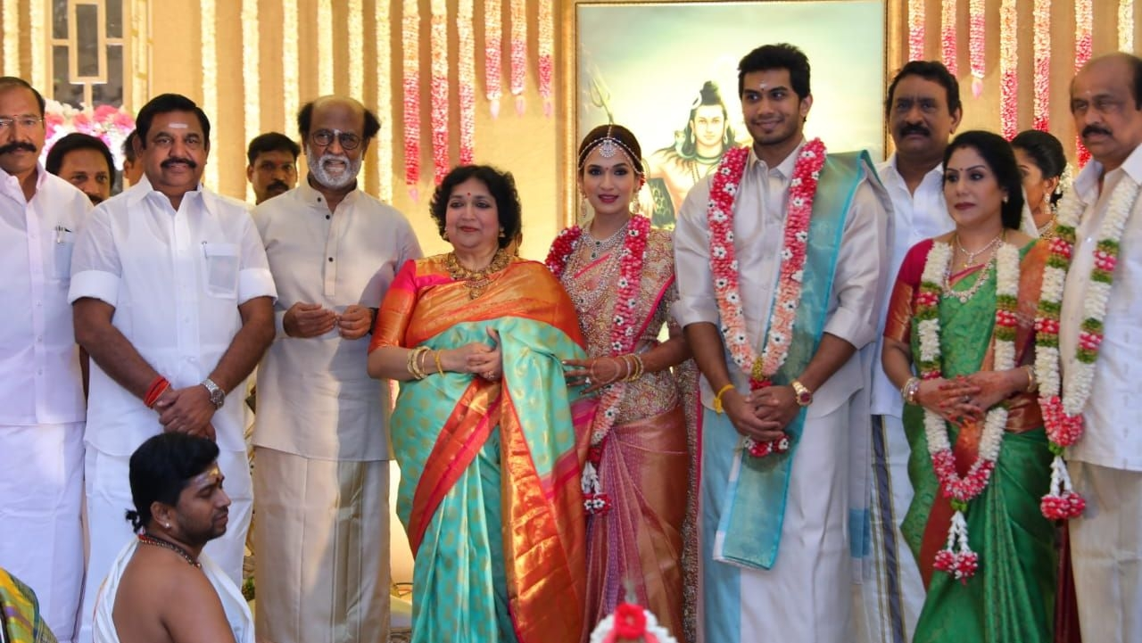 Pictures from Soundarya Rajnikanth and Vishagan Vanangamudi's wedding party