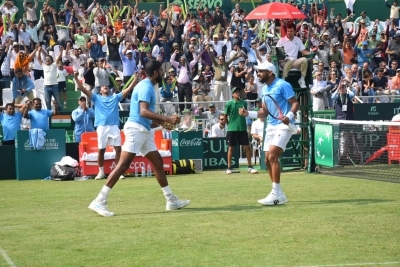 Davis Cup: Berrettini defeats Prajnesh, Italy take 2-0 lead