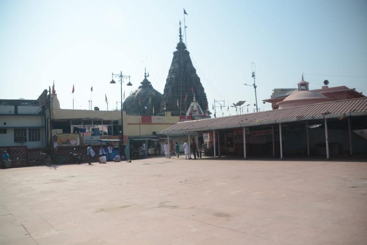 जनता कर्फ्यू के दौरान गया के विष्णुपद मंदिर का इलाका