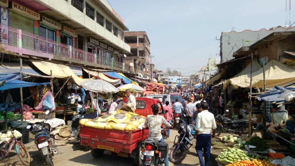 लॉकडाउन के दिन ऐसा था कोडरमा के डोमचांच बाजार का हाल.