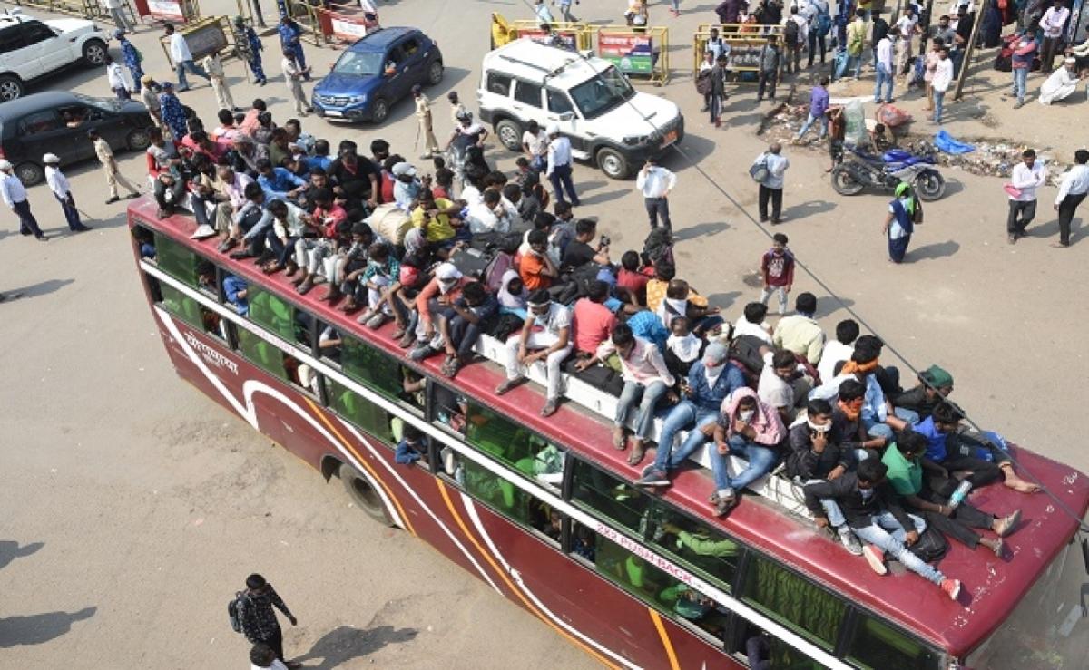 लॉकडाउन : दूसरे राज्यों से बिहार आये 13 हजार प्रवासी मजदूरों को एक दिन में भेजा गया घर