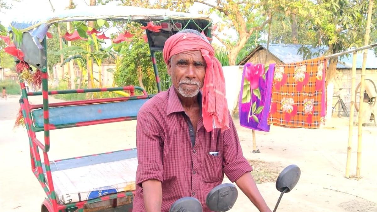 Corona virus outbreak : रिक्शा चलाकर DELHI-NCR से बिहार के पूर्वी चंपारण पहुंचा गणेश, छह दिनों में तय की दूरी