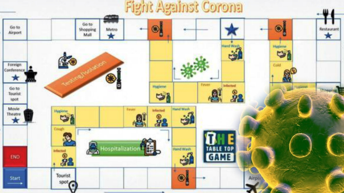लूडो-सांप सीढ़ी की तरह खेलें Corona game, सोशल डिस्टेंस नहीं बनाया तो Covid-19 करेगा हमला