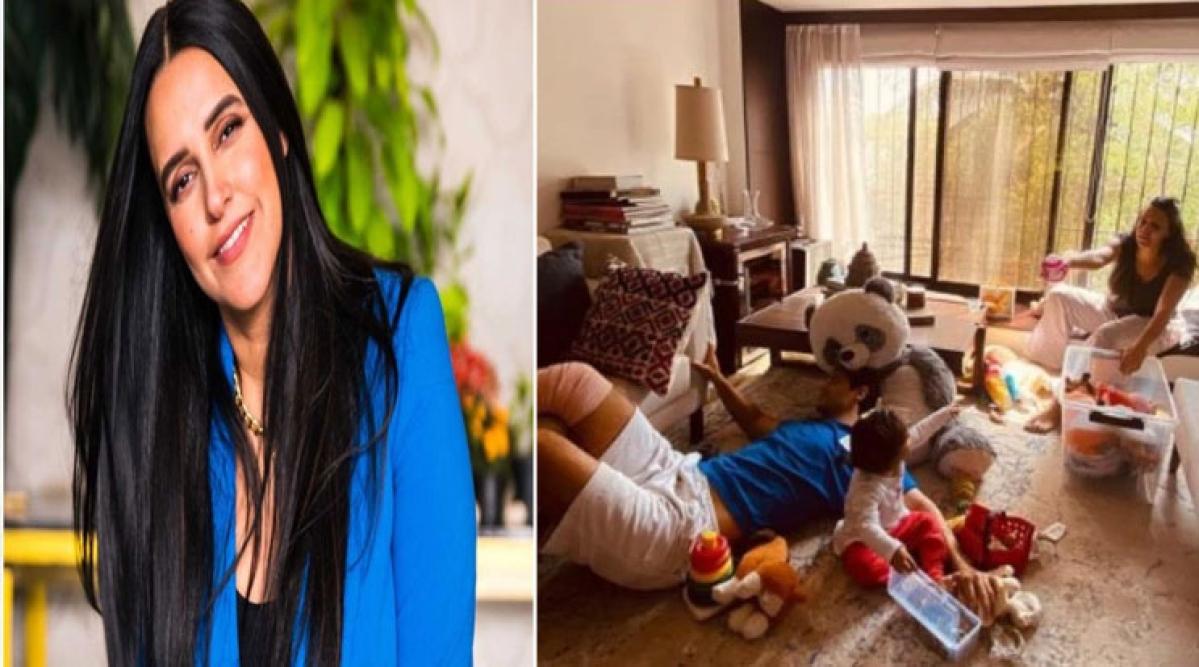 Lockdown के दौरान नेहा धूपिया ने शेयर की घर की तस्वीर