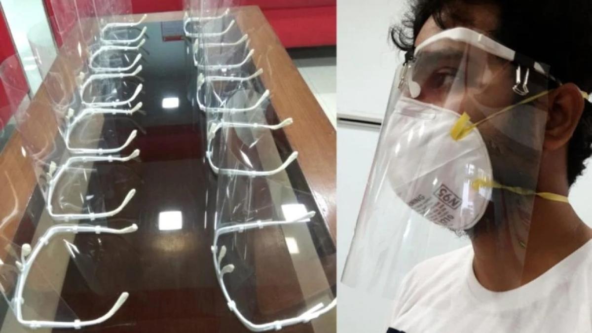 Fight Against Corona: IIT ने डॉक्टर्स के लिए बनायी 3D फेस शील्ड