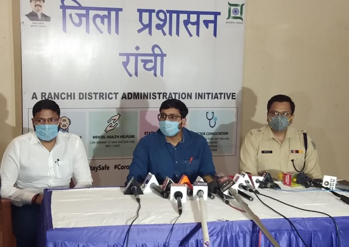 Coronavirus Lockdown Jharkhand LIVE: रांची के हिंदपीढ़ी को 72 घंटे के लिए किया गया सील