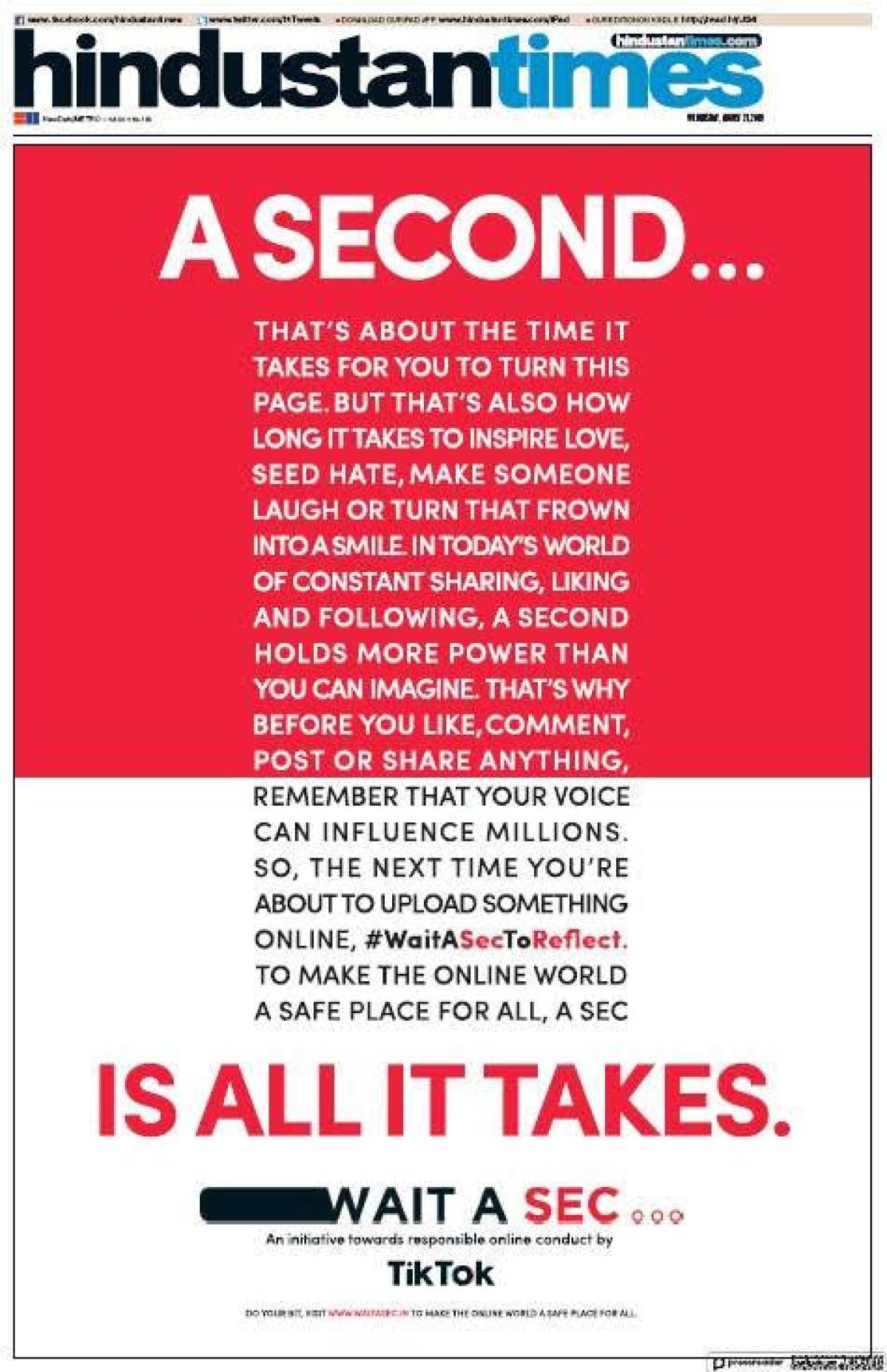 The recent print ad