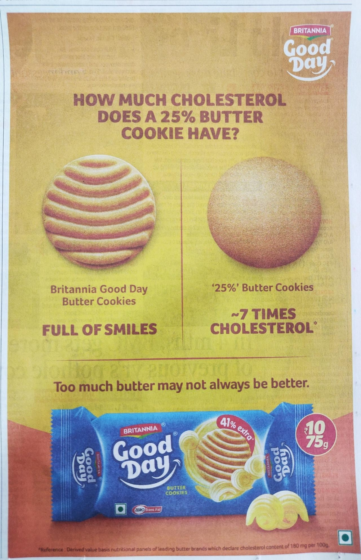 A recent Britannia ad