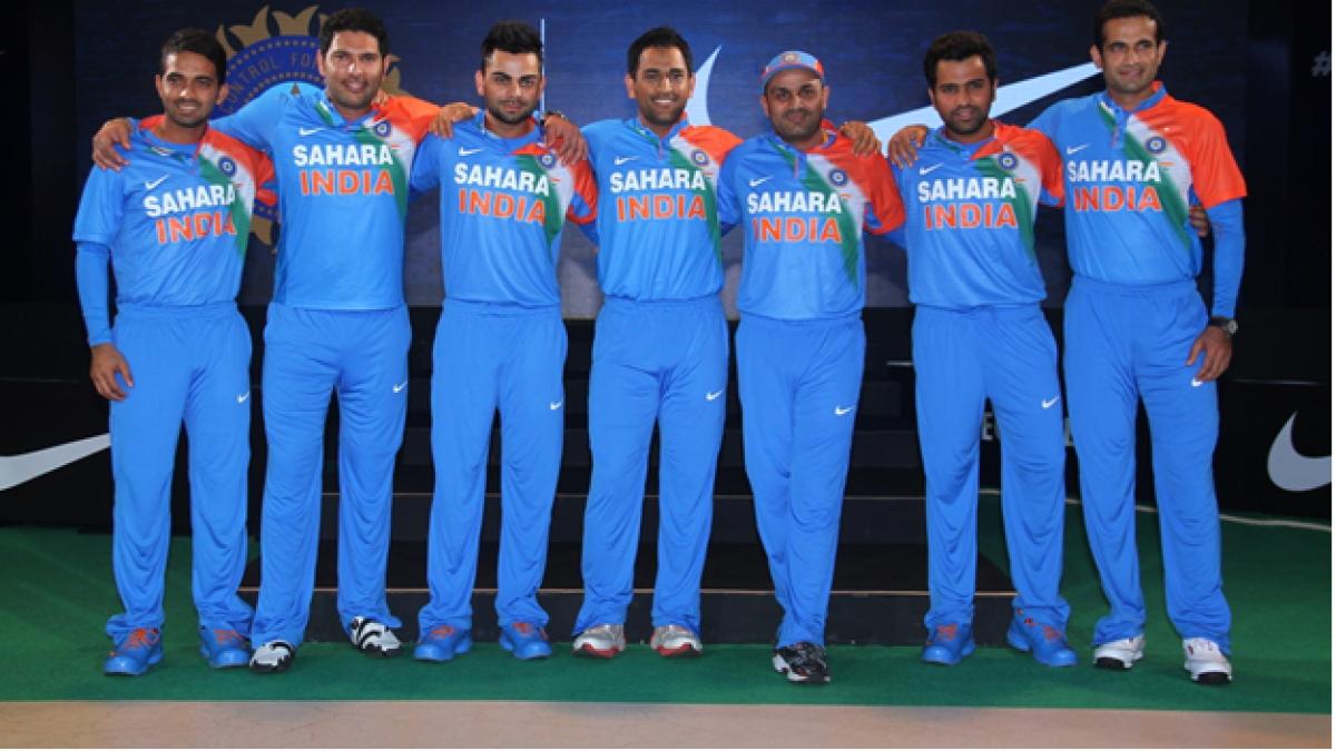 Sahara India Pariwar sponsored jersey