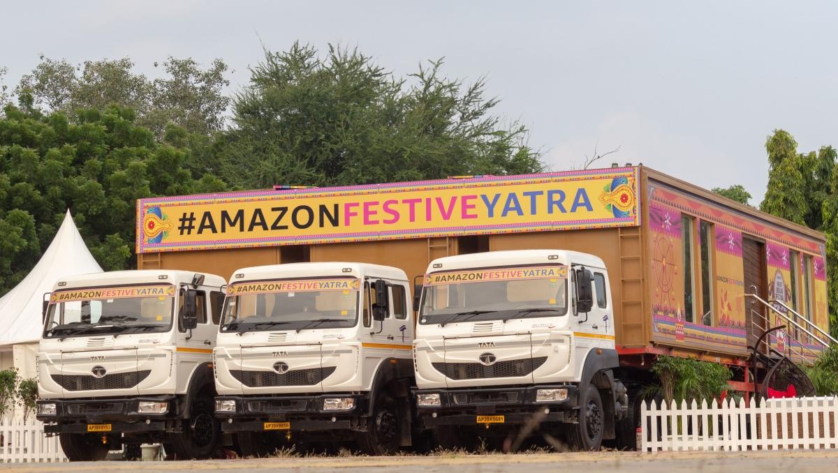 #AmazonFestiveYatra, a house-on-wheels in Delhi