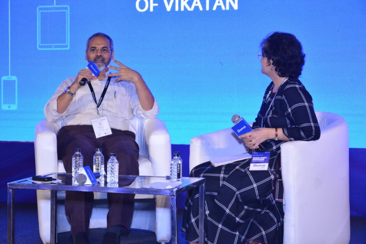 B Srinivasan with Vanita Kohli-Khandekar