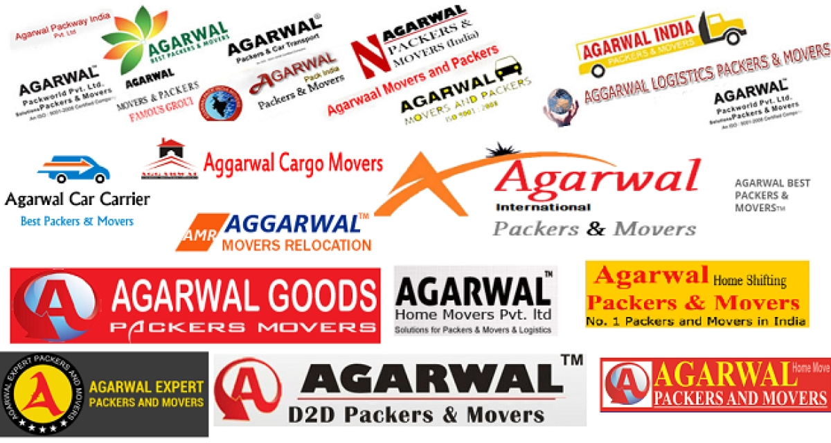 Logos of 'duplicate' brands that have the same name as Agarwal's...