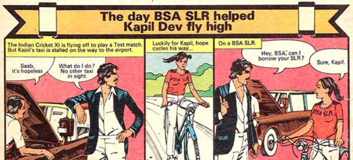 BSA SLR's comic strip with Kapil Dev