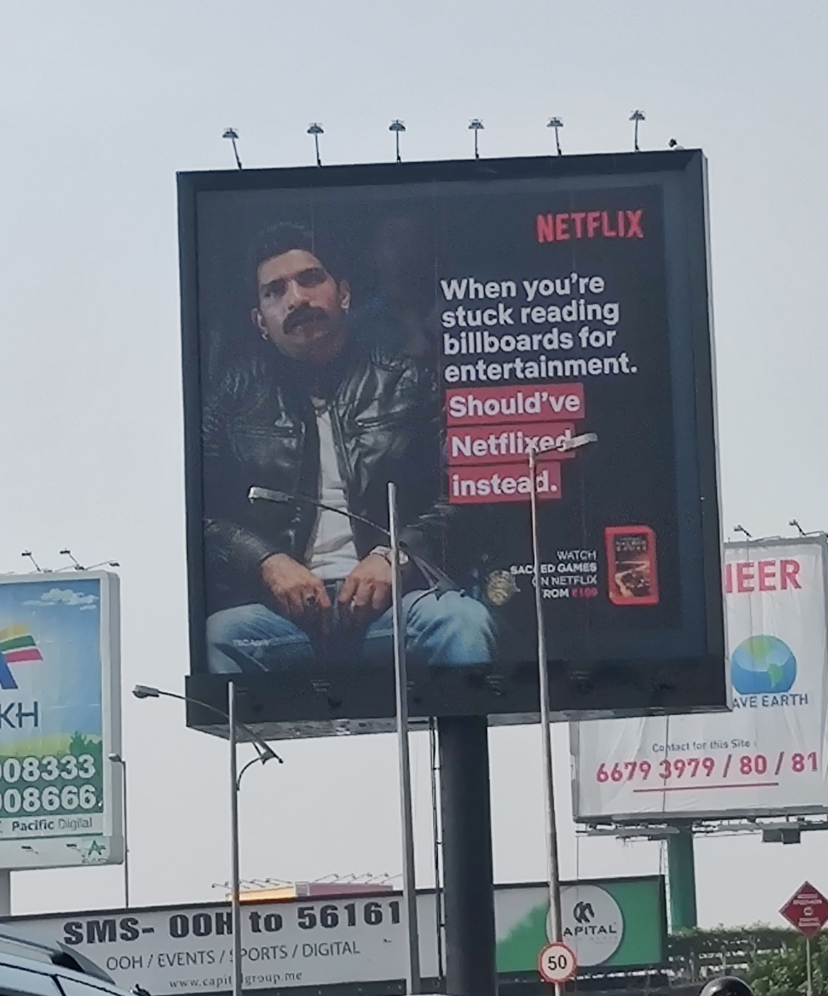 A Netflix billboard spotted in Bandra