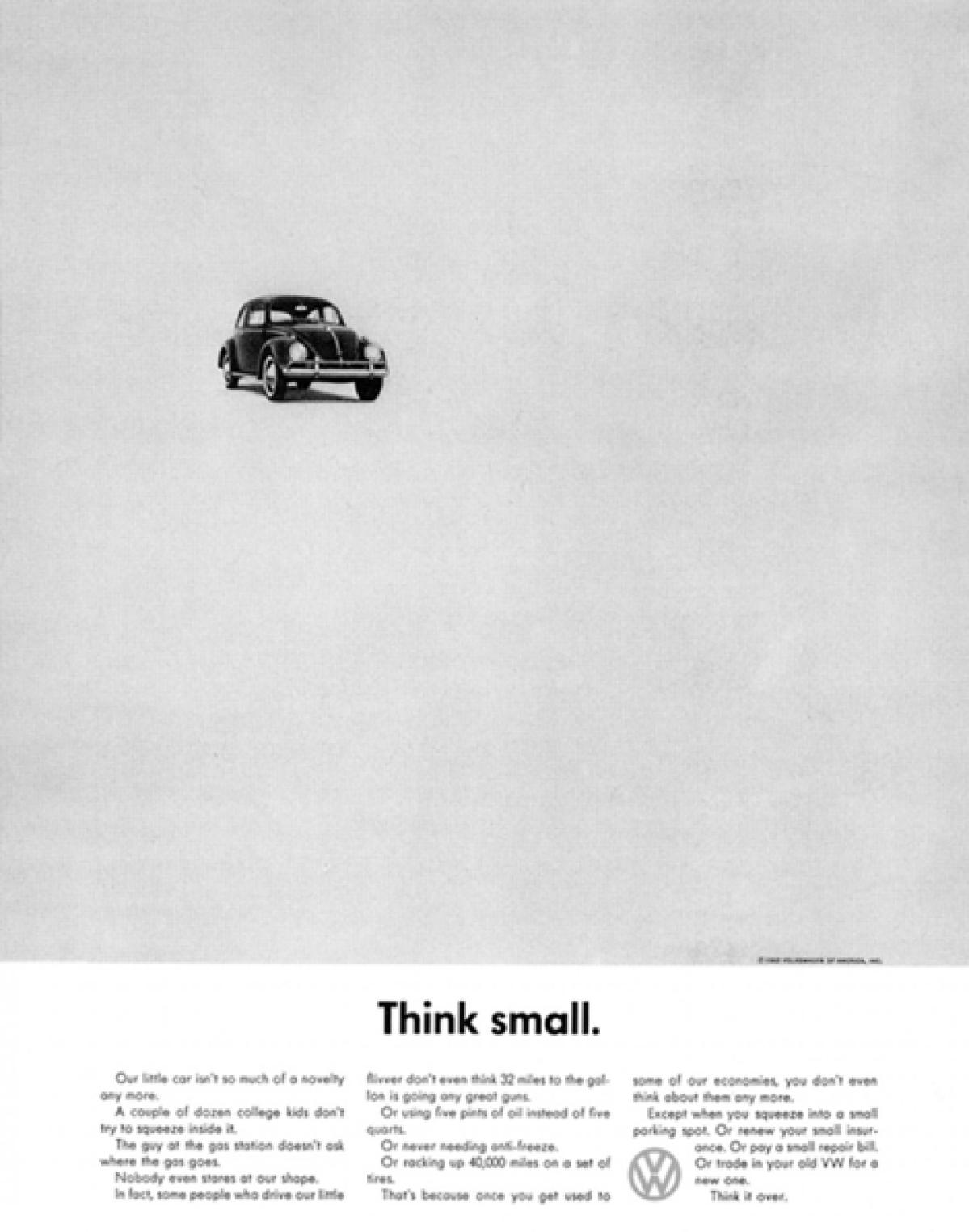 A 1959 Volkswagen ad