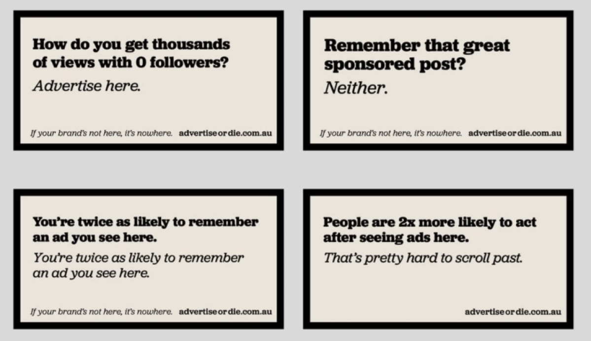 Australia's 'Advertise or Die' campaign gets traction in India