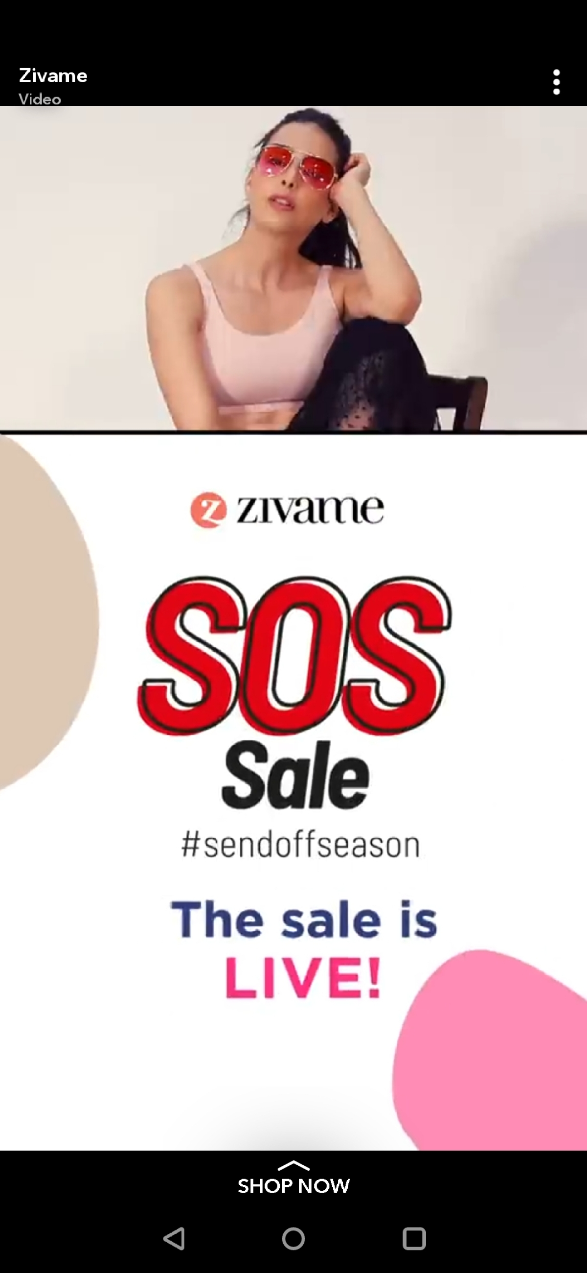 An ad for a Zivame sale