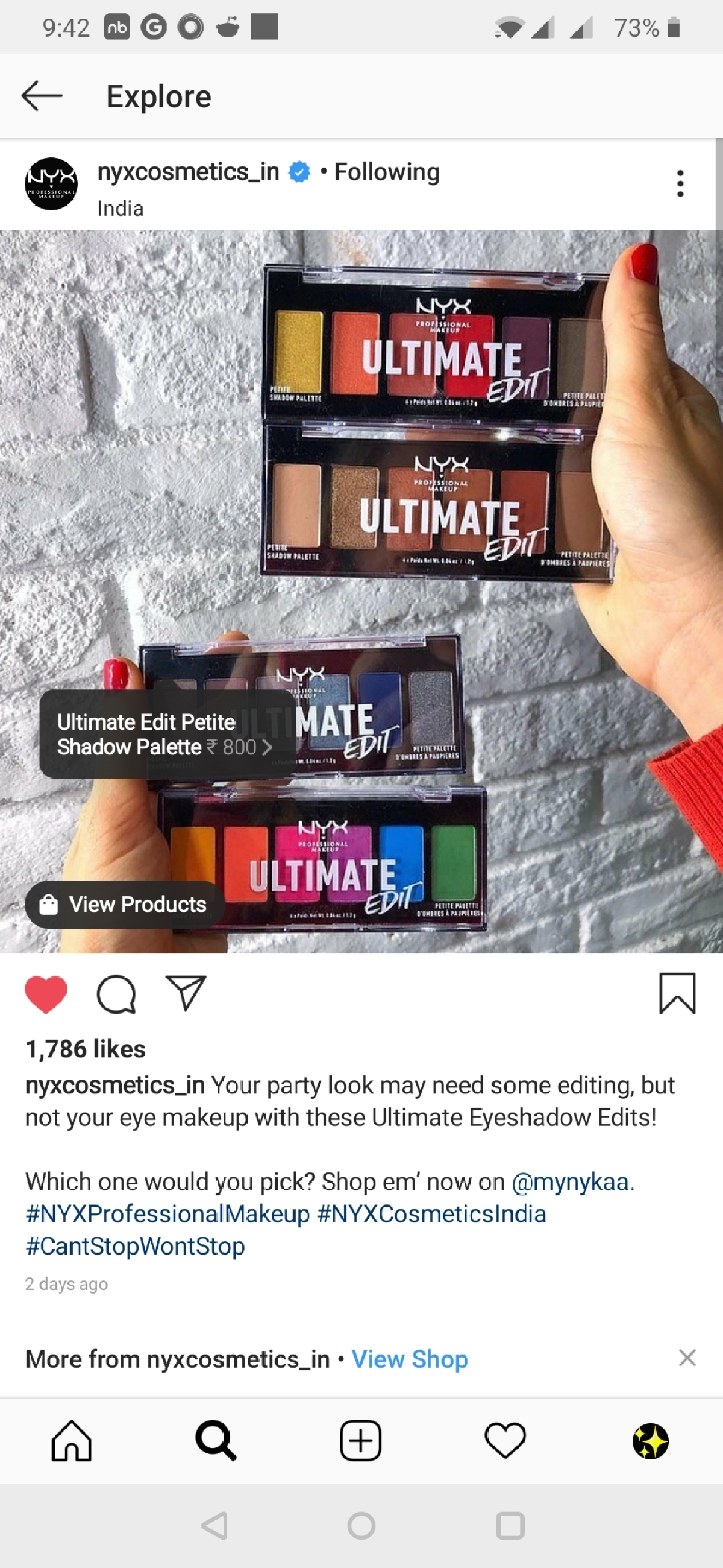 The product is tagged in this post