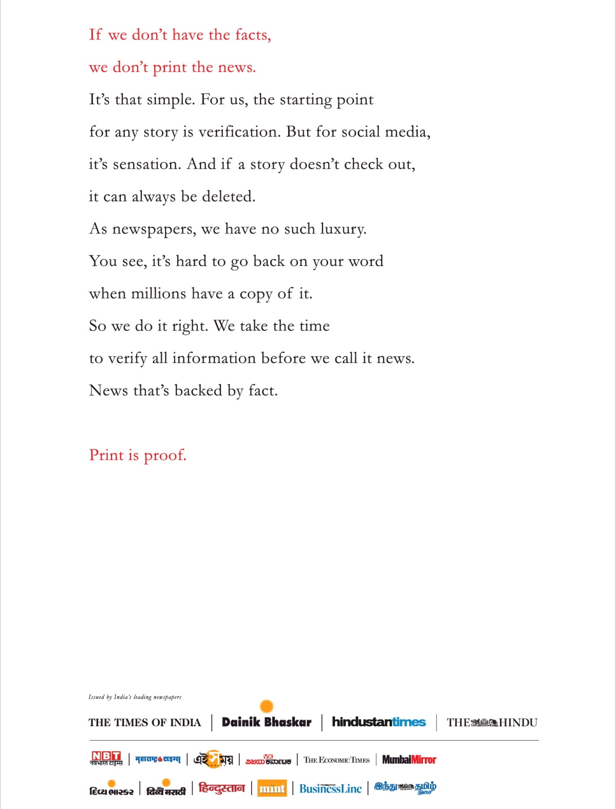 This Lifebuoy print ad urges customers to use competitors too