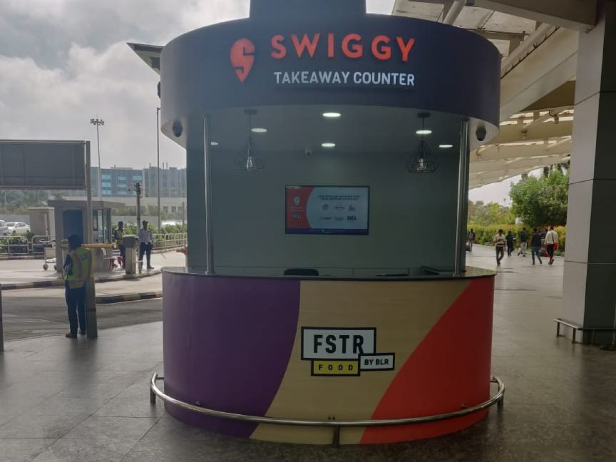 Swiggy counter has pre-ordered food waiting for flyers at Bengaluru airport