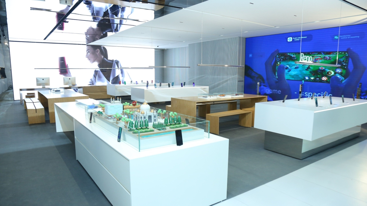 OPPO Flagship premium store in Hyderabad.