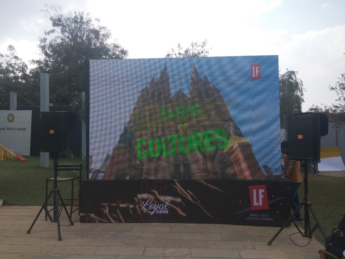 LF screen at Sula Fest 2019