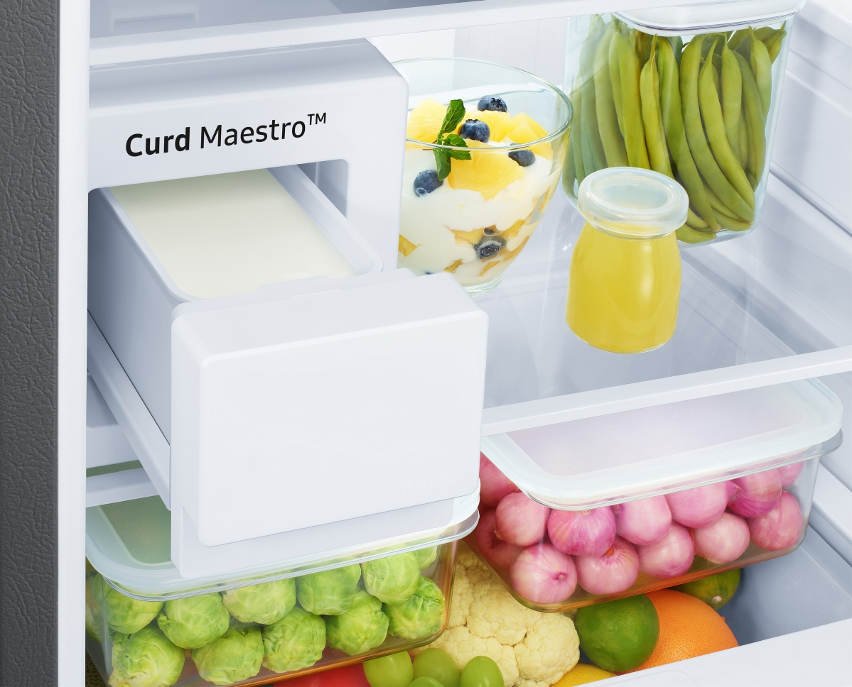 The curd-making feature of the fridge