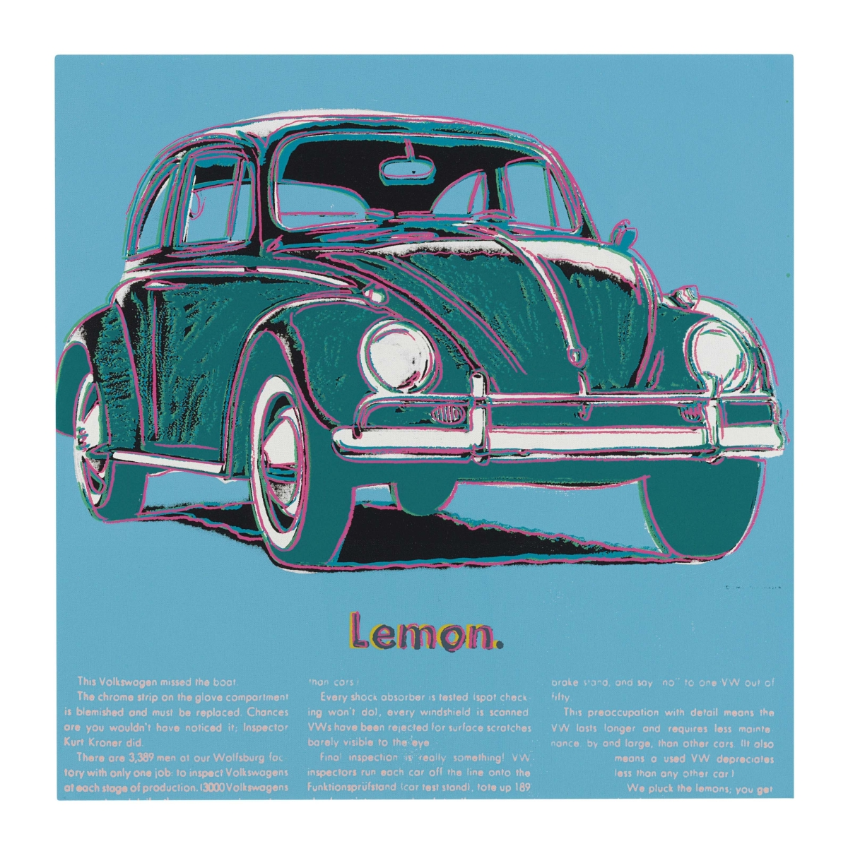 Andy Warhol's ad for the Beetle