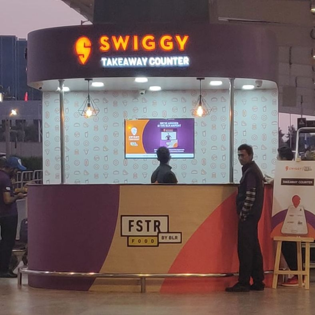 The Swiggy counter at the Kempegowda International Airport Bengaluru