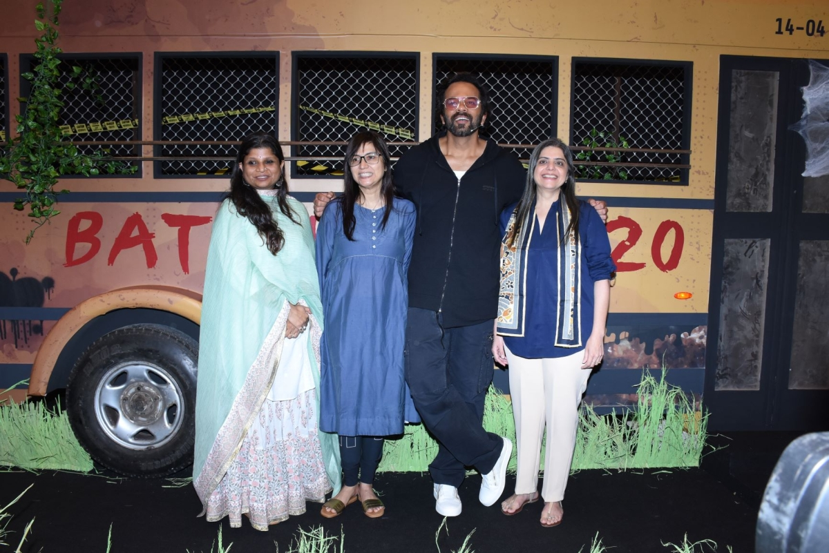 (L - R) Shital Iyer, Non Fiction Head, Manisha Sharma, Chief Content Officer, Hindi Mass Entertainment, Rohit Shetty & Nina Elavia Jaipuria