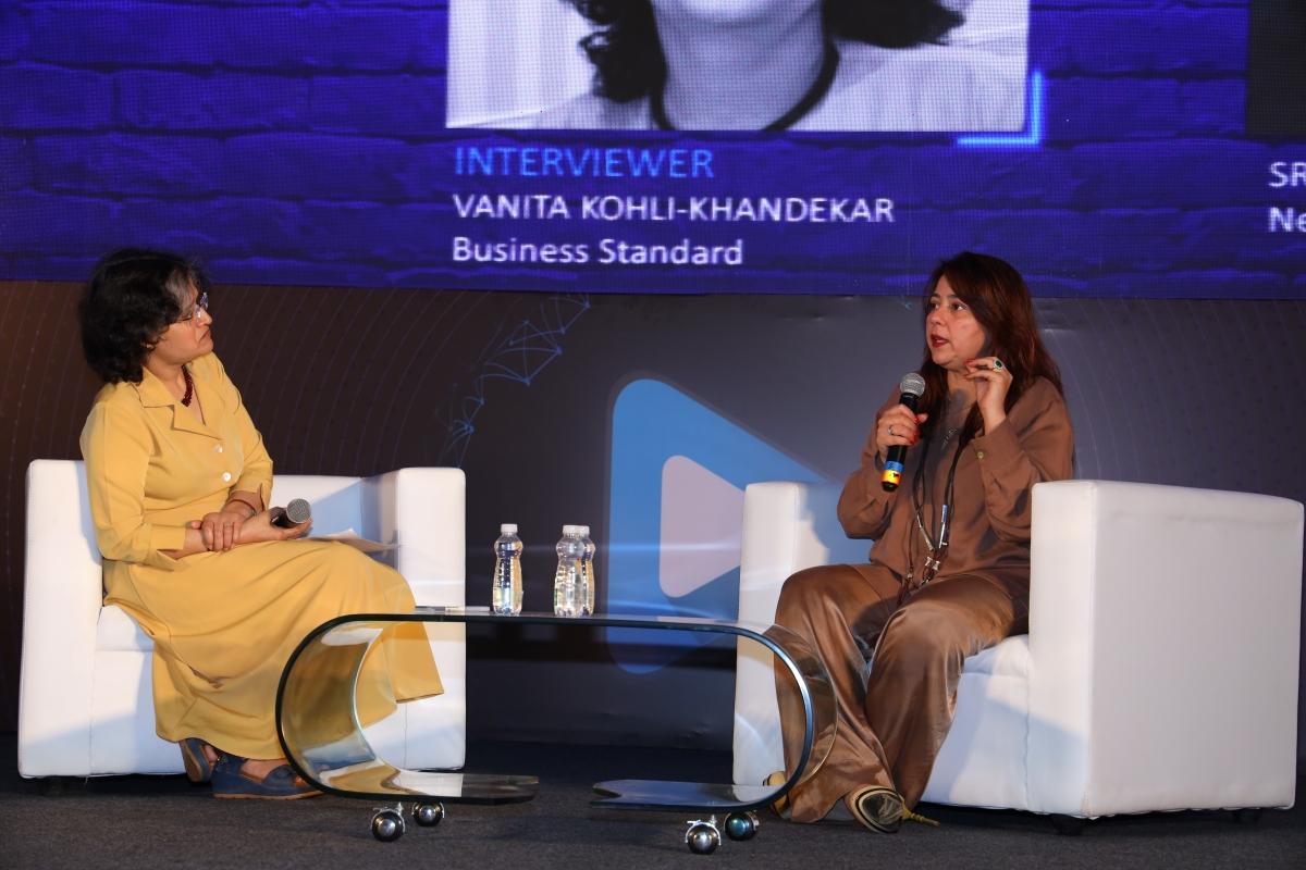 L-R: Vanita Kohli Khandekar and Srishti Behl Arya