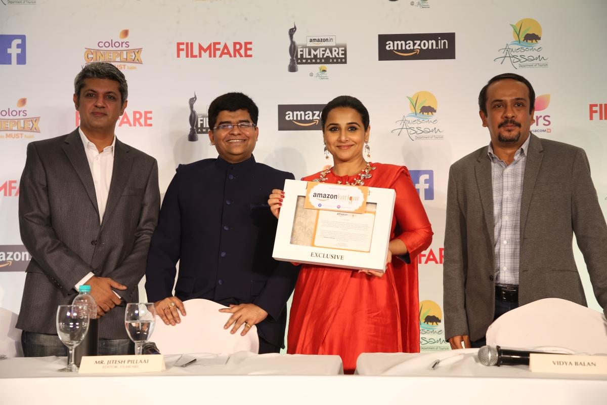 (L to R) Deepak Lamba, Jitesh Pillai, Vidya Balan,  Ravi Desai