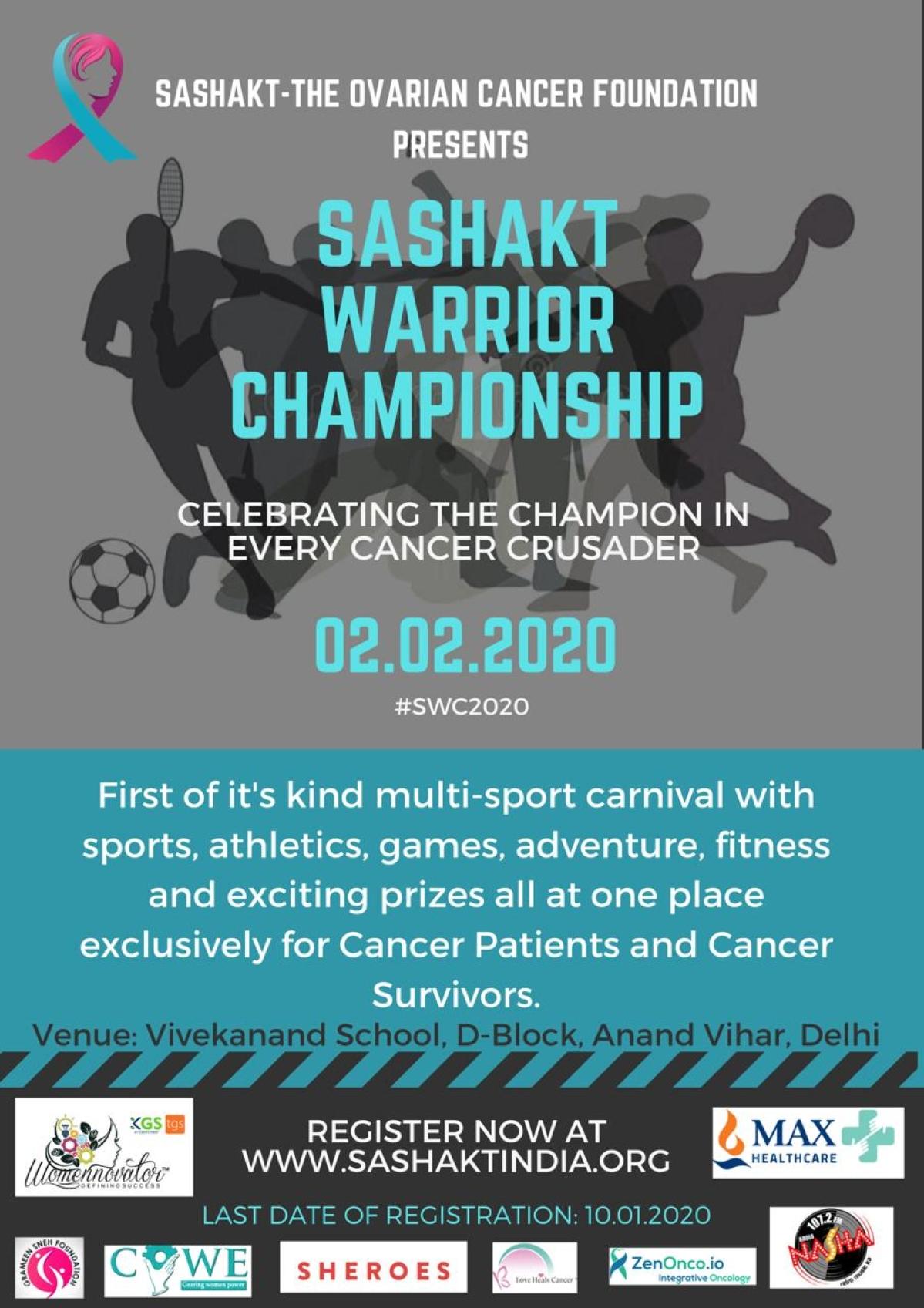 Sashakt - The Ovarian Cancer Foundation organises 'Sashakt Warrior Championship' on The World Cancer Day