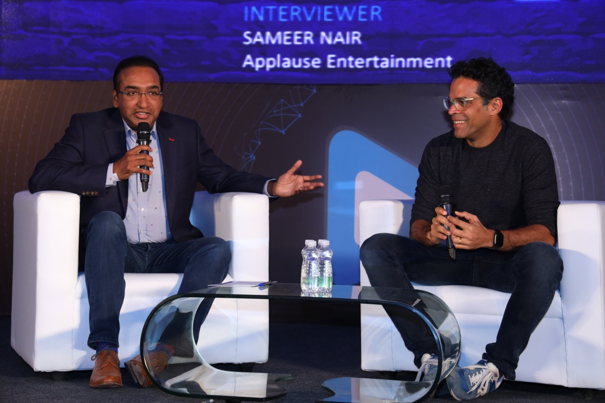 Sameer Nair (L) and Vikramaditya Motwane