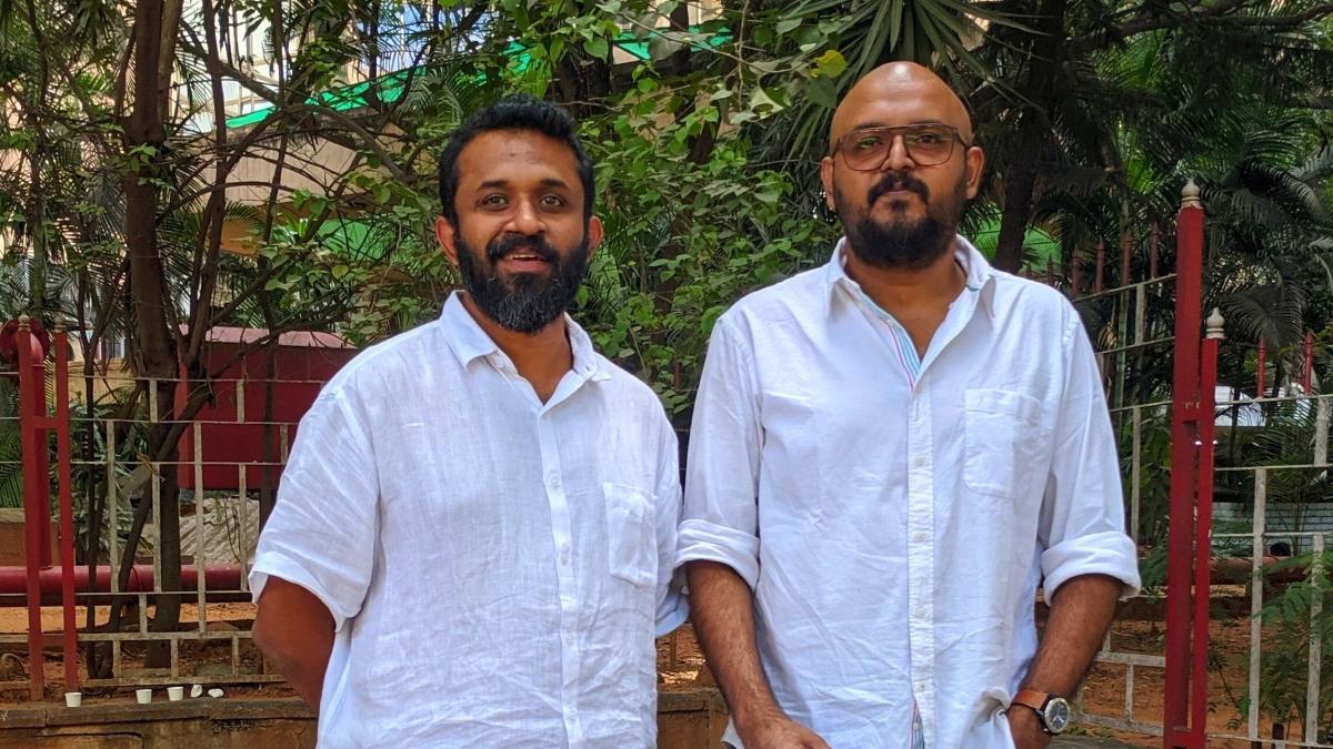 Nikhil Narayanan (on the right) with Vidyanath PA