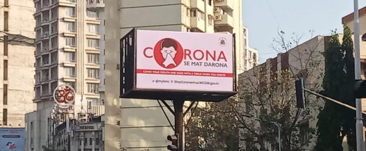 Don't panic, urges BMC's OOH ads to Mumbaikars