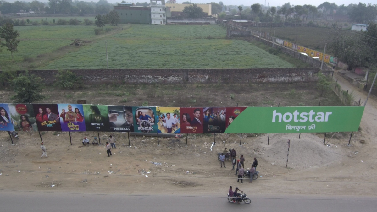 Hotstar's 1000 ft long billboard