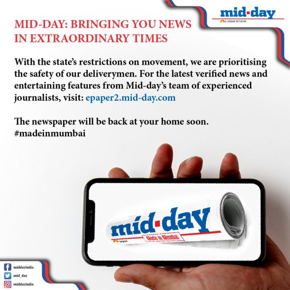 COVID-19: Publications to shut newspaper circulation in Mumbai