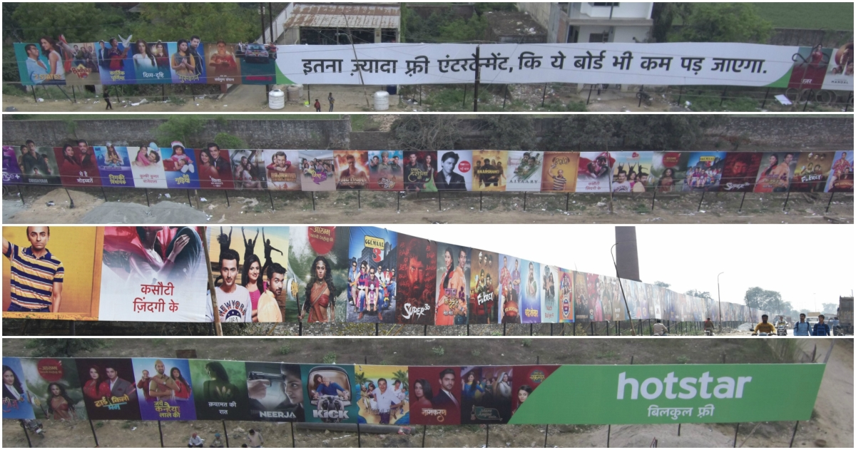 Hotstar's free entertainment is longer than this billboard
