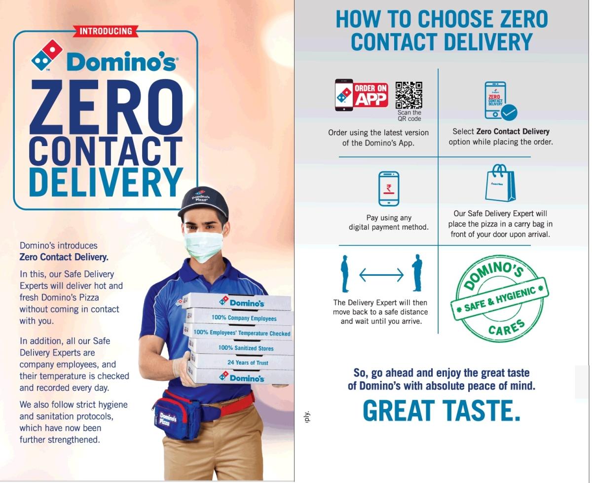 Domino's print ad