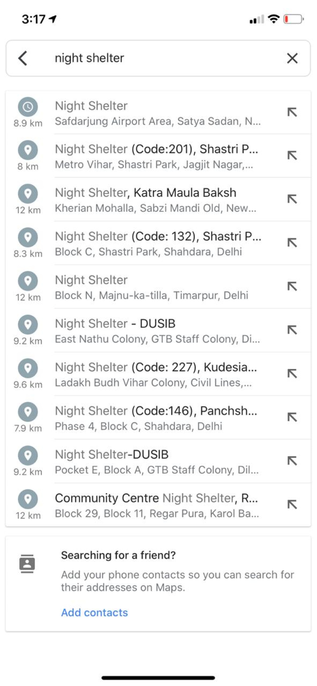 Google lists food, night shelters in COVID-19 affected cities