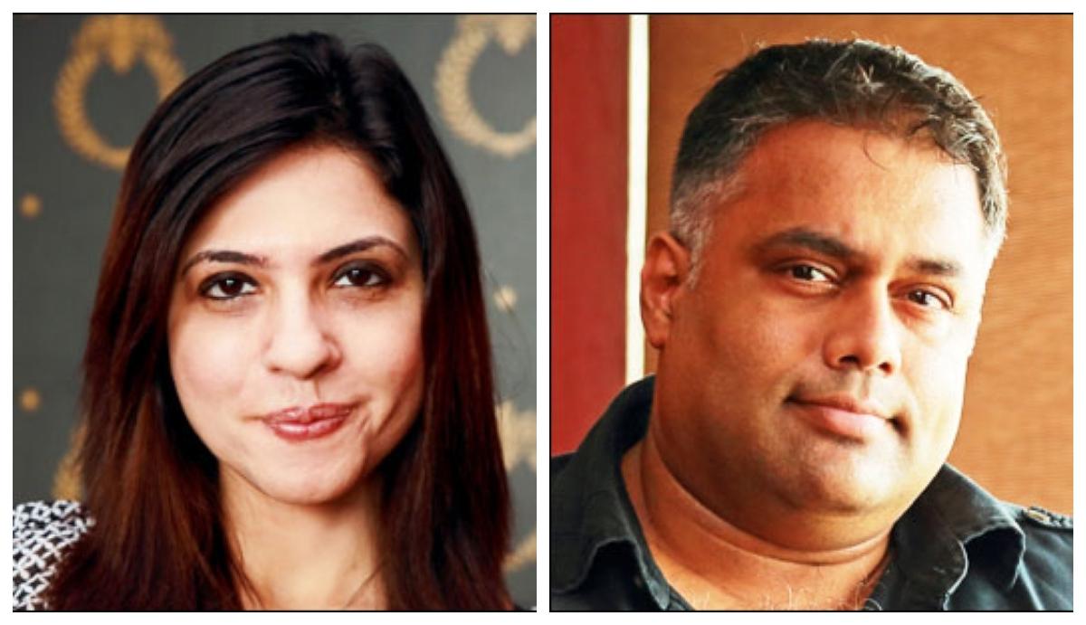 Kainaz Karmakar (L) and Harshad Rajadhyaksha