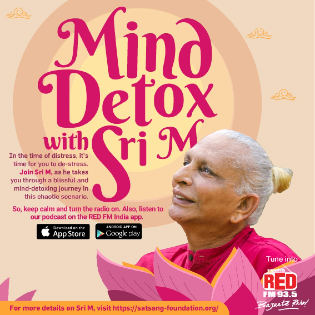 RED FM launches 'Mind Detox with Sri M' to motivate people to stay mentally fit and healthy