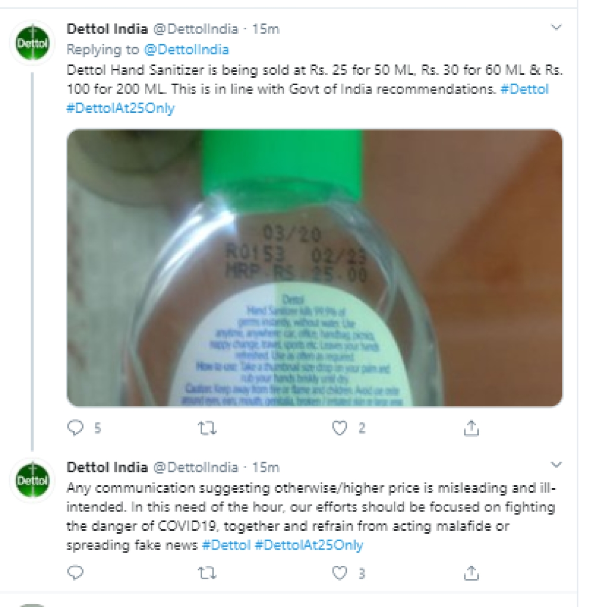 Baba Ramdev takes dig at Dettol on Twitter; Dettol responds...