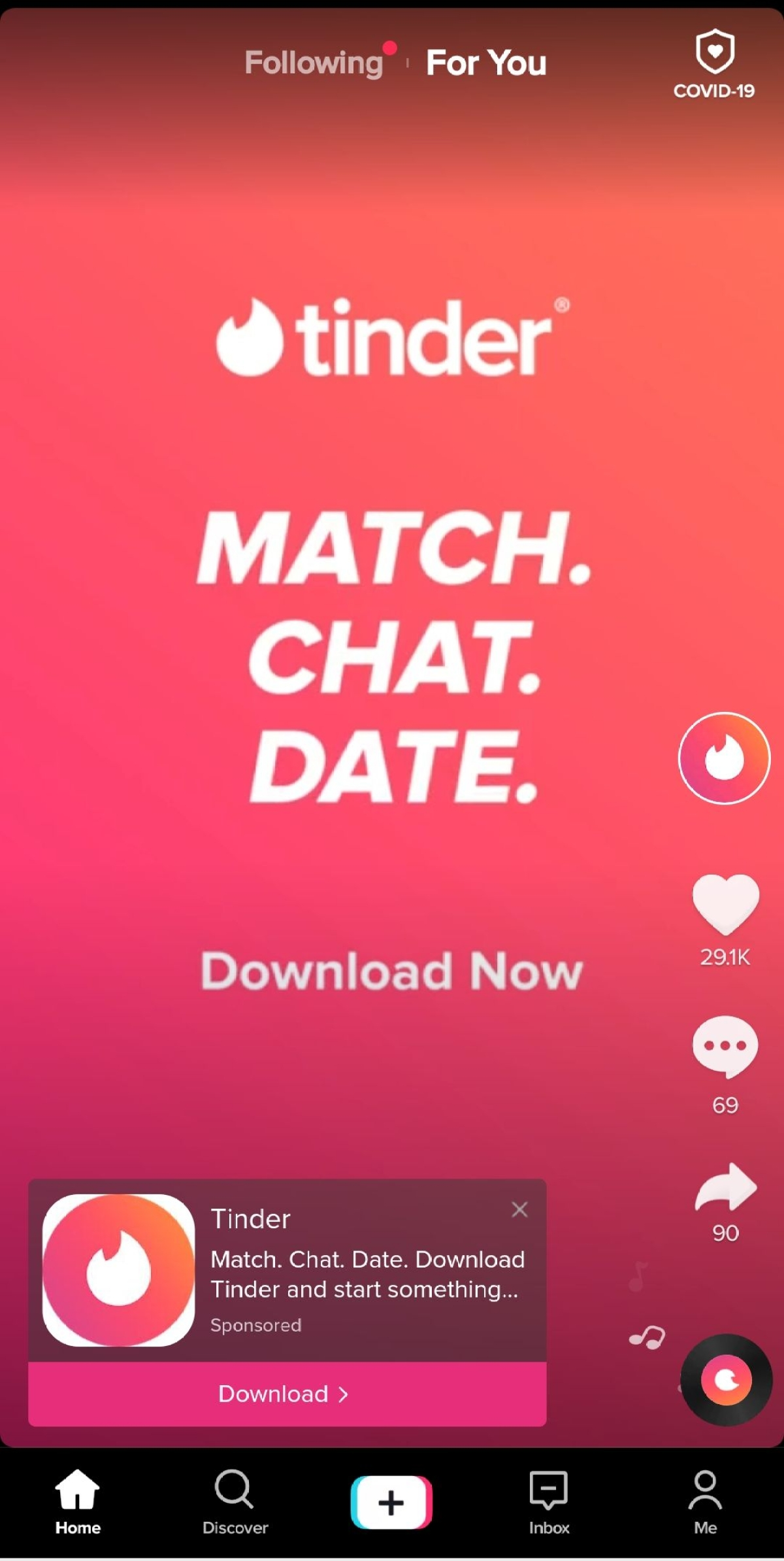 Facebook, Instagram, Tinder display ads on TikTok